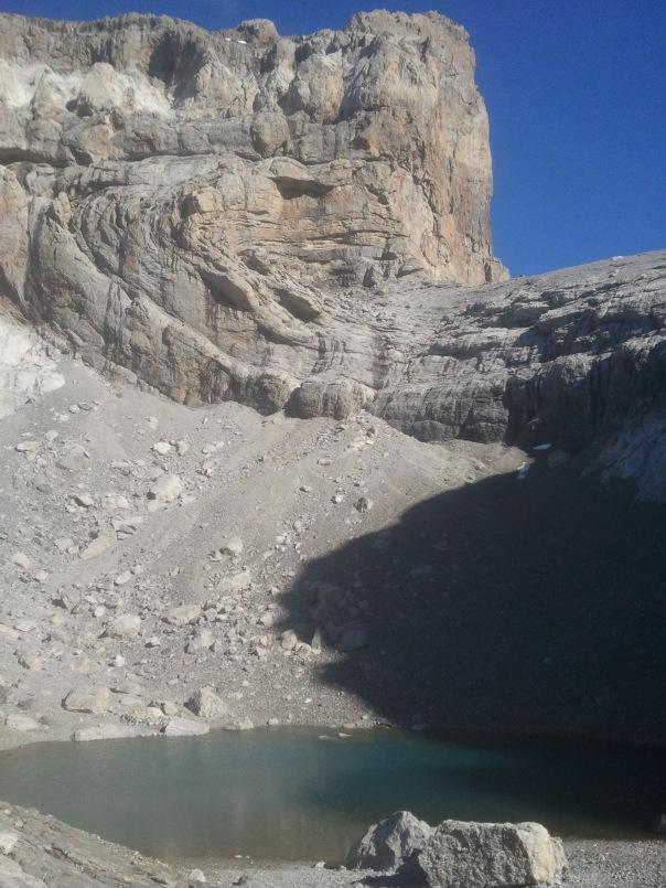 El cilindro y el lago helado