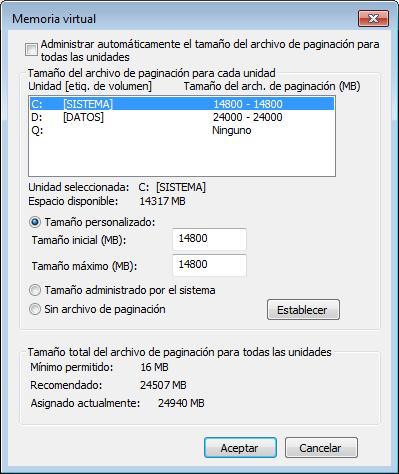Configuracion paginacion