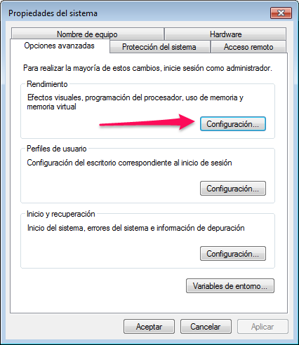 propiedades del sistema memoria virtual windows